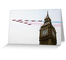 Over the Capital  Greeting Card