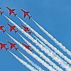 Red Arrows - Blue Sky - Farnborough 2014 by Colin J Williams Photography