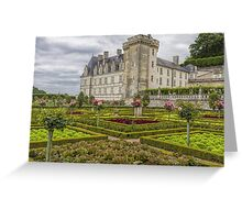 Chateau de Villandry, Loire Valley, France Greeting Card