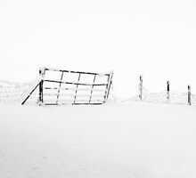 Gate in Snow by Anne Gilbert