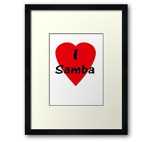 I Love Samba - Dance T-Shirt Framed Print