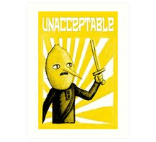 Unacceptable, 2014 Art Print