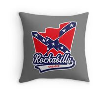 Rockabilly Greaser Throw Pillow