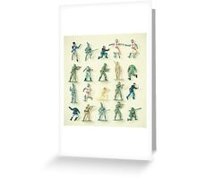 Broken Army Greeting Card