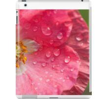 wet pink poppy iPad Case/Skin