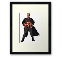 the big bad's back, and hes got flowers! Framed Print