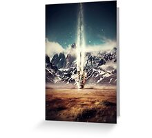 Struck By Gravity Greeting Card