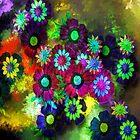 Painted Flowers by kasseggs