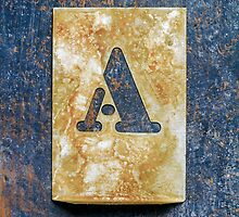 Letter A by Ricard Vaqué