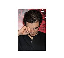 Orlando Bloom Crying x Justin Bieber Photographic Print