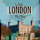 Vintage London travel poster by Nick  Greenaway