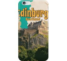 Edinburgh vintage travel poster iPhone Case/Skin