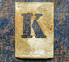 Letter K by Ricard Vaqué