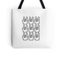 8-bit Rock Sign Tote Bag