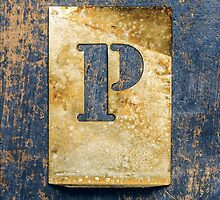 Letter P by Ricard Vaqué