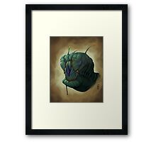 The Green Alien Framed Print