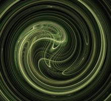 Fractal 31 green spiral Sticker