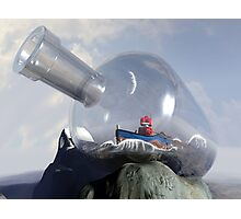 A Robot in a Bottle Photographic Print