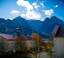 Office view of Zugspitze by aspireimage