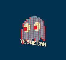 Optimistic Game Villains: Pacman Ghost (Duvets) by dudewithhair