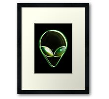 Metal Alien Head 04 Framed Print