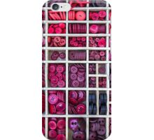Buttons arranged in a typesetter drawer iPhone Case/Skin