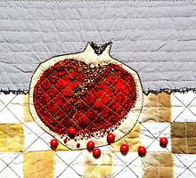 Pomegranate heart  by Bozena Wojtaszek