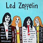 Led Zeppelin Blues Rock Folk Art by krusefolkart