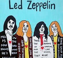 Led Zeppelin Blues Rock Folk Art by krusefolkart