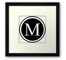 Monogram M Framed Print