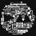 Depeche Mode : DM Logo 2013 - With old logo 2 - White by Luc Lambert