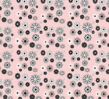Flower Power Groovy in Pink by dbvisualarts