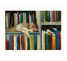 Quite Well Read Art Print