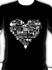Depeche Mode : I Love DM - White T-Shirt