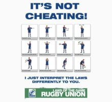 Funny poke at the laws of Rugby Union Kids Clothes