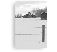 Shacks Winter Scene Canvas Print