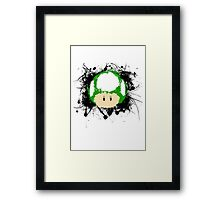 Abstract Paint Splatter 1up Mushroom Framed Print