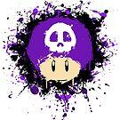Abstract Super Mario Poison (purple) Mushroom by scribbleworx