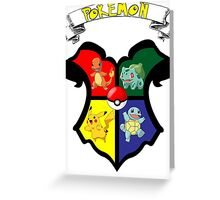 Pokemon Crest / Harry Potter Greeting Card