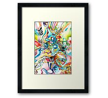 Unlimited Curiosity - Watercolor + Pen Art Framed Print