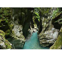 Tiny Alpine Gorge Photographic Print