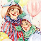 Clowns Happy Halloween! by Margaret Harris