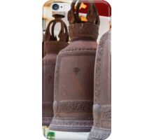Row of hanging buddhist religious bells in Thailand temple iPhone Case/Skin