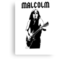 Malcolm Young T-Shirt Canvas Print