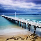 Point Lonsdale Pier and the Rip by Jim McDonagh