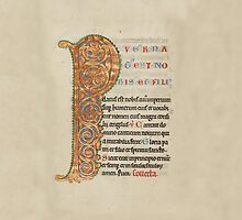 Illuminated Manuscript - Inhabited Initial P (1180 AD) by SexyCodicology