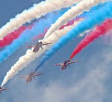 Looping Through Cloud - The Red Arrows - Farnborough 2014 Sticker
