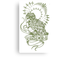wisdom owl tattoo shirt Canvas Print