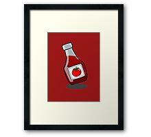 Cartoon Ketchup Bottle Framed Print