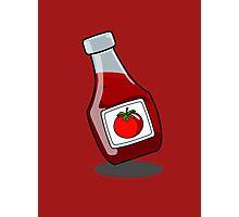 Cartoon Ketchup Bottle Photographic Print
